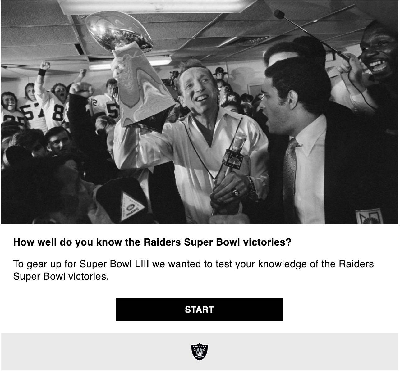 LA Raiders Riddle Quiz